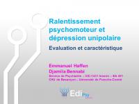 EdiPsy_ralentissement psychomoteur et dépression